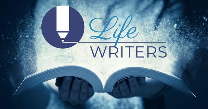 Open book Life Writers